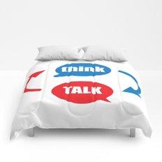 """think - talk"" Comforters"