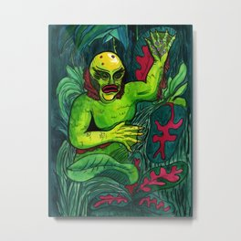 Swamp Monster Metal Print