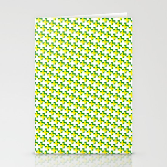 So cross… yellow. Stationery Cards