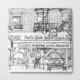 PORTO RICO COFFEE Metal Print