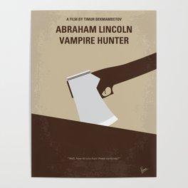 No1009 My Abraham Lincoln Vampire Hunter minimal movie poster Poster