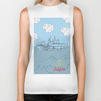 zissou Biker Tanks featuring Zissou Boat by Jarom Ward
