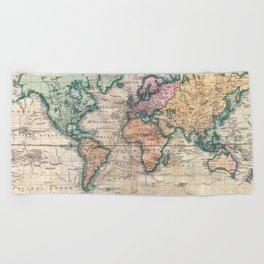 Vintage World Map 1801 Beach Towel