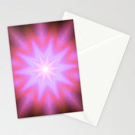 Shining Star Pink Mauve Lavender Stationery Cards