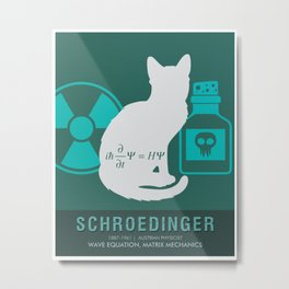 Science Posters - Erwin Schroedinger - Physicist Metal Print