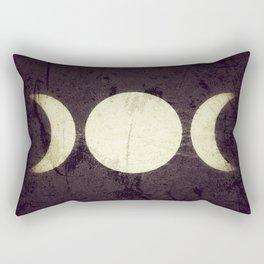 Triple Moon Goddess Rectangular Pillow