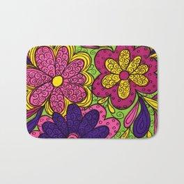 Flower Power in Purple Bath Mat