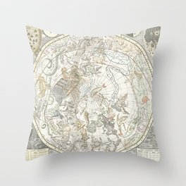 Star map of the Southern Starry Sky Throw Pillow