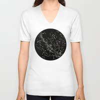 constellations V-neck T-shirts featuring Constellations  by Terry Fan