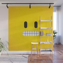 Grin emoji face Wall Mural