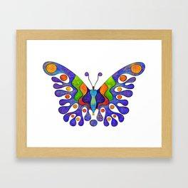 Elenissina - colourful butterfly Framed Art Print