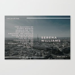 Serena Williams On Women Supporting Each Other 4 Canvas Print
