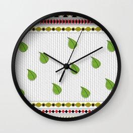 Modern Madhubani Borders Wall Clock