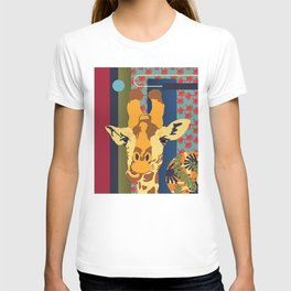 Giraffe feeling - Jungle Decor Kids T-shirt