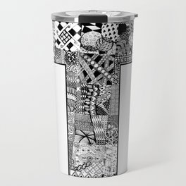 Cutout Letter T Travel Mug