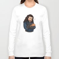 thorin Long Sleeve T-shirts featuring Thorin and Kitten by Hattie Hedgehog
