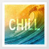 chill Art Prints featuring Chill by SURFskate