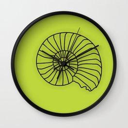 Lime Seashell Art Print Home Decor Sea Theme Shell Print Wall Clock