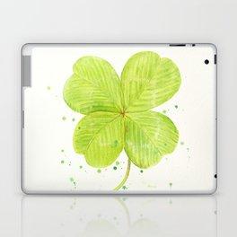Watercolor 4 leaf Clover Laptop & iPad Skin
