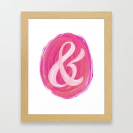 Thick Swirl Ampersand Warm Framed Art Print