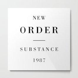 New Order Substance 1987 Metal Print