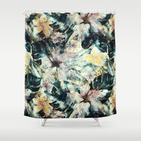 hibiscus Shower Curtains featuring Hibiscus by RIZA PEKER