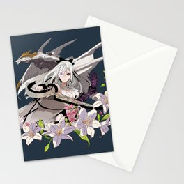 Lady and Dragon Stationery Cards