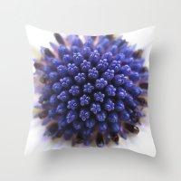 daisy Throw Pillows featuring Daisy by Deborah Janke