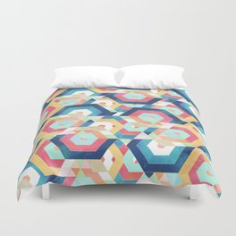 Modern geometric abstract pattern Duvet Cover