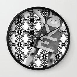 LOVE implosion #9 [invert]  Wall Clock