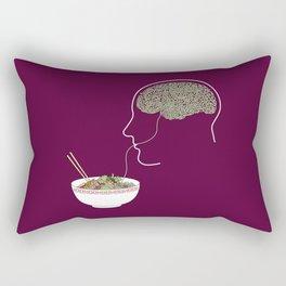 Noodle Brain Rectangular Pillow