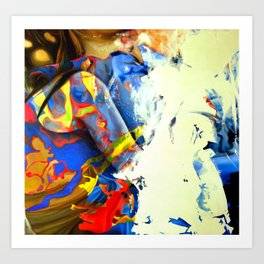 Crumbling to pieces, 2015, 100-100cm, oil on canvas Art Print