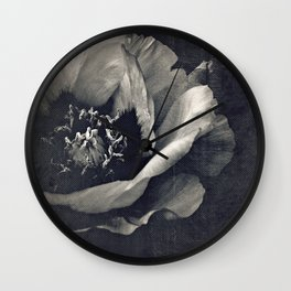 canvas peony Wall Clock