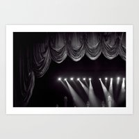 theater Art Prints featuring Theater by Jessica Krzywicki