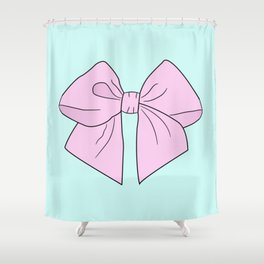 Ice Cream Pink Vector Bow Shower Curtain