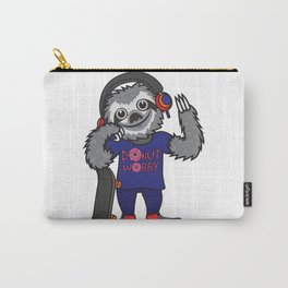 Skater Sloth Carry-All Pouch