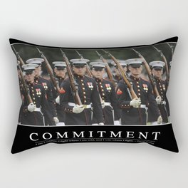 Commitment: Inspirational Quote and Motivational Poster Rectangular Pillow