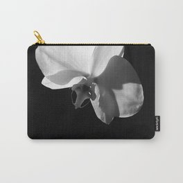 Black and White Orchid Carry-All Pouch