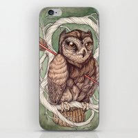 caitlin hackett iPhone & iPod Skins featuring Wisdom Wounded by Folly by Caitlin Hackett