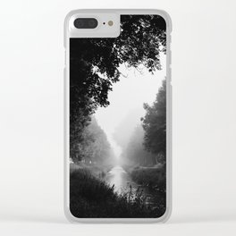 Flowing morning fog Clear iPhone Case
