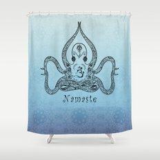 Paisley Yoga Octopus Namaste Shower Curtain