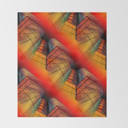 3D - abstraction -63- Throw Blanket