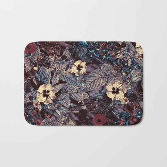 dark flowers Bath Mat