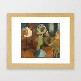 Edgar Degas - The Millinery Shop Framed Art Print
