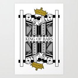 King Of Bars Cards Art Print