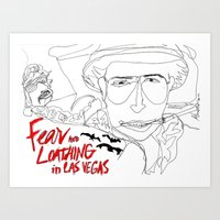 fear and loathing Art Prints featuring Fear&Loathing by TheFrizzKid