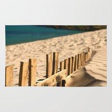 Fence beach Rug