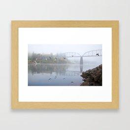 Flying Over The River Framed Art Print
