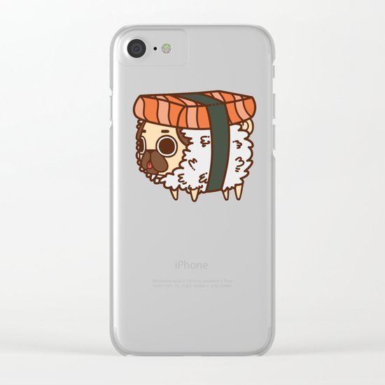 Puglie Salmon Sushi Clear iPhone Case