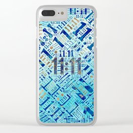 Eleven Eleven Numerology Pattern #1 Clear iPhone Case